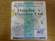 19/09/1998 Ticket: Dundee v Dundee United [Complimentary] .  Thanks for viewing