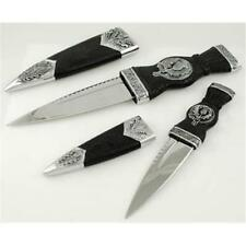Two Piece Scottish Sgian Athame Set - Wicca Pagan Ceremonial Dagger Knife