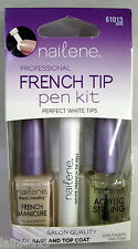 Nailene FRENCH TIP PEN KIT with Base and Top Coat, Fingers & Toes, 61013