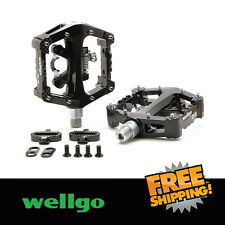 "Wellgo WAM-D10 9/16"" Magnesium Platform Bike Sealed Bearing Pedals - Black"