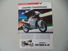 advertising Pubblicità 1987 MOTO HONDA NS 125 R SUPER SPORT