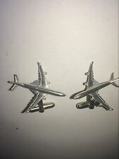 Airbus A340 C68 Aircraft Jet Airliner Fine English Pewter Cufflinks