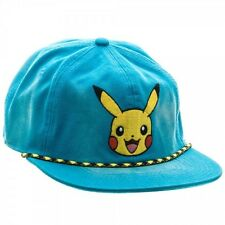 POKEMON PIKACHU WASHED UNSTRUCTURED 6 PANEL SNAPBACK HAT CAP ADJUSTABLE RETRO