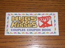 Hugs & Kisses X Rated Coupon Vouchers Book 27 Coupons great gift for a Couples
