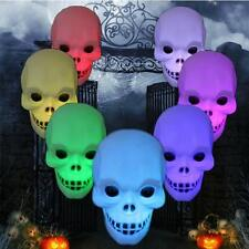 New Flashing Halloween Skull Grimace Color Changing LED Lantern Light Decoration