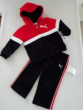 Puma Toddler Boy's 2 Piece Tracksuit Jacke & Pants Outfit 12M New