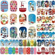 12 Sheets beauty Christmas water transfer nail art decoration stickers decals 40