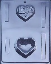Love Heart Pour Box Chocolate Candy Mold #V068