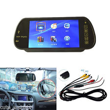 16:9 Color 7'' LCD USB SD Bluetooth MP5 FM transmitter Rear View Mirror Monitor