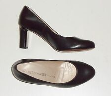 PETER KAISER brown Mid Heel (1.5-3 in.) ALL LEATHER Court Shoes NEW size UK 3.5