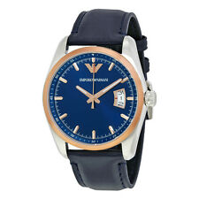Emporio Armani Navy Blue Sunray Dial Mens Watch AR6123