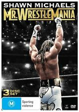 WWE: SHAWN MICHAELS MR WRESTLEMANIA DVD *3 Disc Set *REGION 4 *Wrestling