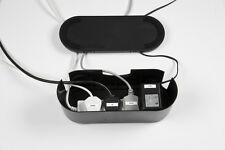 D-Line Cable Tidy Unit - Black Small - Hides 4-way Extension Cord Leads