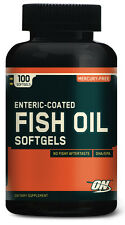 Enteric Coated Fish Oil, Optimum Nutrition, 100 Softgels, ON, Heart Health