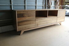 local made spotted gum hardwood timber lowline tv entertainment unit.