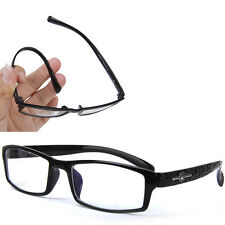 Black Flexible Eyeglasses Frame Computer Reading Glasses Optical Spectacles