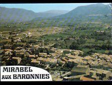 MIRABEL-AUX-BARONNIES (26) VILLAS & EGLISE en vue aérienne en 1978