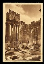 Holy Land BAALBEK Temple of Bacchus early PPC Palmyra Hotel advert