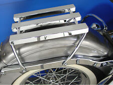 1958-1984 Harley Davidson Panhead Shovelhead 3 Channel Luggage Rack Chrome