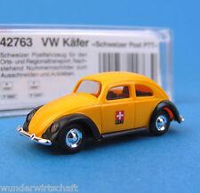 Busch H0 42763 VW 1200 Brezel Käfer SCHWEIZER POST PTT PKW HO 1:87 OVP Box