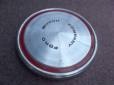 68 69 70 71 72 73 Vintage Ford Motor Company Dog Dish Hubcap - red ring