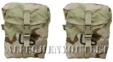 Lot of 2 MOLLE Desert Sustainment Pouches for Rifleman's Rucksack Back Pack NEW