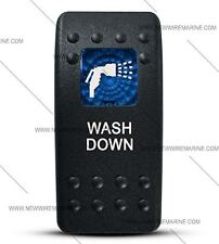 Labeled Contura II Rocker Switch Cover ONLY, Wash Down (Blue Window)