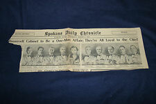 March 1, 1933 Spokane Daily Chronical F D Roosevelt Cabinet They're all Loyal