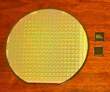 Silicon wafer collectors set - DS87C520 CPU wafer and two DS87C520 CPU chips.