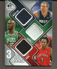 2009-10 Upper Deck 3 Star Swatches Jersey Card #35-GNB Nowitzki,Garnett,Bosh! MT