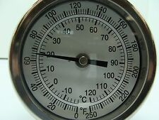 "3"" BIMETAL THERMOMETER BACK MOUNT 9"" STEM 1/2"" NPT 50 Degrees F~300 Degrees F"