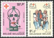 Belgium 1978 Red Cross Fund/Health/Medical/Skull/Drugs/Cigarette 2v set (n32565)