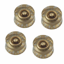 4 Pcs Gold Speed Control Knob Numerals For Gibson Les Paul Electric Guitar