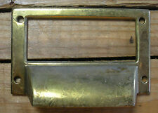 Brass File Drawer Pulls with Label Holder Office/Library/Post Office
