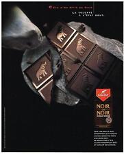 PUBLICITE  2000   COTE D'OR  chocolat noir de noir
