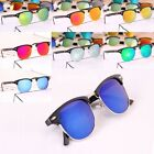 Fashion Retro Vintage Classic Half Frame Mirror Lens Sunglasses S2U
