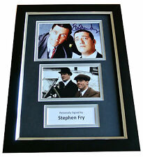 STEPHEN FRY Signed A4 FRAMED Photo Autograph Display JEEVES & WOOSTER TV & COA