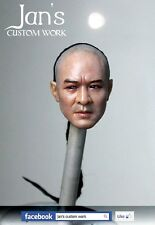 1/6 Hot CUSTOM REPAINT REHAIR Jet Li Fearless toys kung fu figure head enterbay