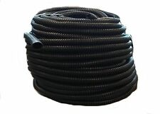 """50 FT - 1/2"""" INCH BLACK SPLIT LOOM WIRE HOSE COVER CONDUIT POLY TUBE TUBING 4"""