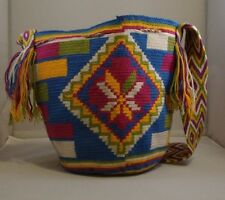 Large Original Handmade Wayuu Bag Mochila  Great Boho style purse, Beach handbag