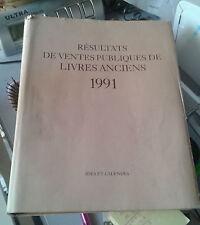 Annuaire des ventes publiques de livres anciens 1991. Ides et Calendes.