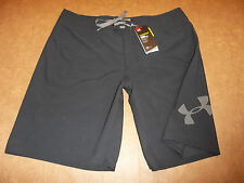 NEW UNDER ARMOUR MANIA BOARDSHORTS BOARD SHORTS BLACK MEN'S 36