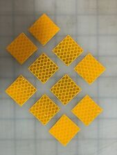 "3M 10 Pieces 1"" x 1"" YELLOW DIAMOND GRADE REFLECTIVE CONSPICUITY ADHESIVE TAPE"