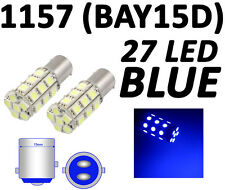 Blue 27 LED Car Auto Tail Rear Turn Brake Light Bulbs Lamp BAY15D 1157 2057 12V