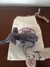 COTTAGE COLLECTIBLES Miniatures Ganz Elephant in Pouch & Tag CC7038