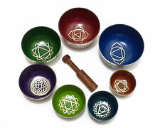 Colorful Chakra Healing Tibetan Singing Bowls~Set of 7~Stock Clearance Sale