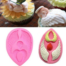 Silicone Fondant Mould 3D Baby Angel Wing Cake Topper Pies Decorating Mold