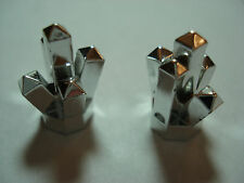 LEGO 2  New  Chrome Silver Rock 1 x 1 Crystal 5 Point  Aquazone: Stingrays  8-12