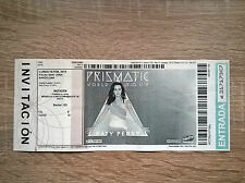 KATY PERRY TICKET CONCERT PRISMATIC WORLD TOUR BARCELONA 2015 RARE