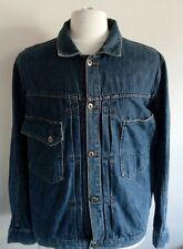 VOLCOM STONE MENS BLUE DENIM JEANS JACKET SIZE MEDIUM TO FIT CHEST 46""